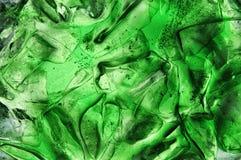 zielony lód zdjęcia stock