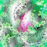 zielony lamparta druk Zdjęcie Stock