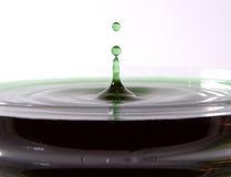 zielony ' last splash ' Obrazy Royalty Free