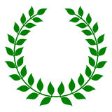 zielony laurowy wianek Zdjęcie Stock