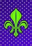 Zielony leluja kwiatu Fleur De Lys symbol royalty ilustracja