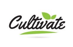 zielony liść Kultywuje ręki pisać słowa tekst dla typografia logo projekta ilustracji
