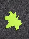 zielony liść Papierowy rozcięcie Zdjęcie Royalty Free
