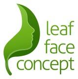 Zielony liść twarzy pojęcie ilustracji