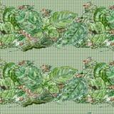 Zielony liścia wzór 1 ilustracji