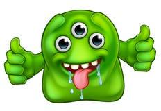 Zielony Śliczny Obcy potwór Zdjęcia Stock