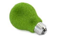 Zielony lightbulb od szkła, eco pojęcie świadczenia 3 d Obrazy Stock