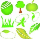 Zielony logo Fotografia Stock