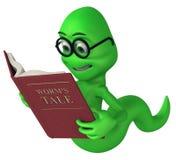 Zielony mól książkowy ilustracja wektor