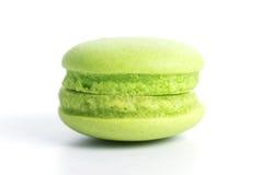 Zielony Macaron Zdjęcia Stock