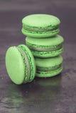 Zielony Macaron Obrazy Stock
