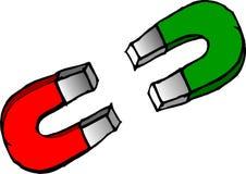 zielony magnesów czerwieni but Obraz Royalty Free