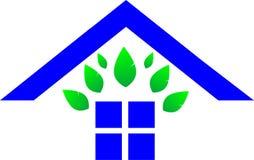 Zielony majątkowy logo zdjęcie stock