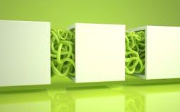 Zielony makaron Zdjęcie Stock
