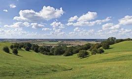 zielony malowniczy obszarów wiejskich Obraz Stock