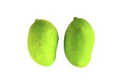 2 zielony mango Zdjęcie Royalty Free