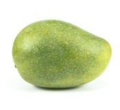 Zielony mango odizolowywający na białym tle Zdjęcia Stock
