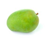 Zielony mango odizolowywający na białym tle Zdjęcia Royalty Free