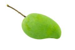 Zielony mango odizolowywający Obraz Stock