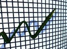 zielony mapy wydźwignięcie Zdjęcia Stock