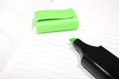 zielony markier Zdjęcie Stock