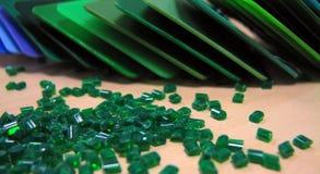 zielony masterbatch Zdjęcie Stock