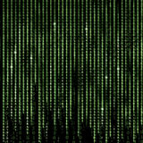 Zielony Matrycowy Abstrakcjonistyczny tło, programuje binarnego kod Fotografia Royalty Free