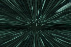 Zielony matrycowy tło z prędkość ruchem, promieniowa plama Zdjęcia Royalty Free