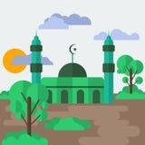 Zielony meczet Obrazy Royalty Free