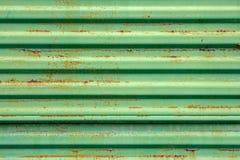 zielony metal malująca ośniedziała powierzchnia Zdjęcia Stock
