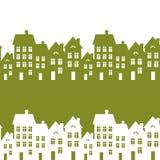Zielony miasto ilustracja wektor