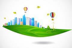Zielony miasto ilustracji