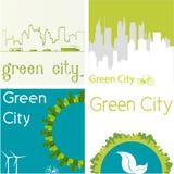 Zielony miasto Fotografia Royalty Free