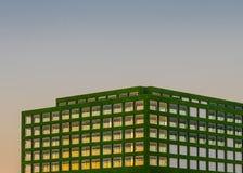 Zielony mieszkanie Zdjęcie Stock