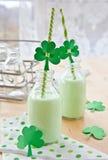 zielony milkshake Fotografia Stock