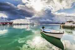 Zielony morze Obrazy Royalty Free