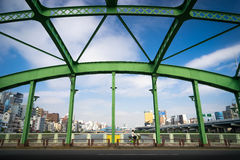 Zielony most Sumida park w Tokio, Japonia Obraz Stock