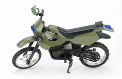 zielony motocykl Zdjęcia Stock