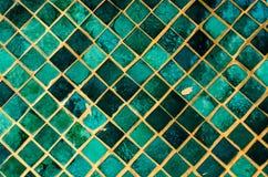 zielony mozaiki lustra sztuki tło Zdjęcie Stock