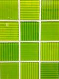 Zielony mozaiki płytki tło Obraz Royalty Free