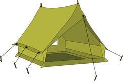 zielony namiot Obrazy Stock