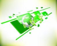 Zielony Naturalny Światowy tło Ilustracja Wektor