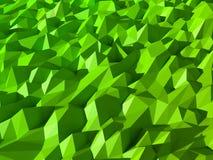 Zielony Niski Poli- Abstrakcjonistyczny tło Obrazy Stock