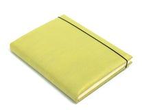 Zielony notatnik na białym tle Zdjęcie Stock