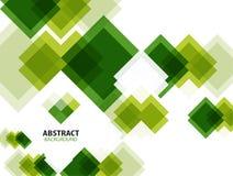 Zielony nowożytny geometrical abstrakcjonistyczny tło royalty ilustracja