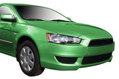 zielony nowoczesne samochody Fotografia Stock