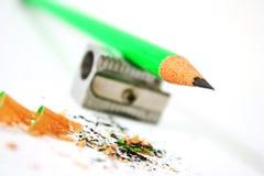 zielony ołówek Zdjęcie Royalty Free
