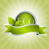 zielony odznaka faborek Obrazy Stock
