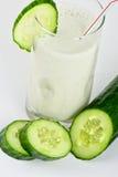 Zielony ogórkowy koktajl Obrazy Stock