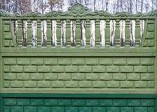 Zielony ogrodzenie Zdjęcia Stock